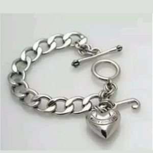 Juicy Couture Banner Heart J Toggle Bracelet